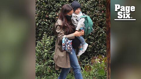 Pregnant Meghan markle steps out