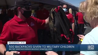 500 backpacks given to military children