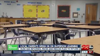 Local parents weight in on returning to in-person learning