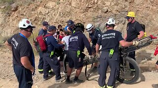 Woman rescued from east Mesa mountain