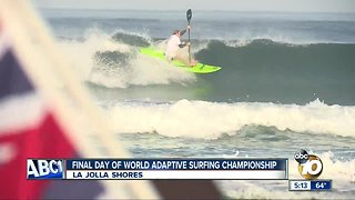 Sufers dominate waves at World Adaptive Surfing Championship