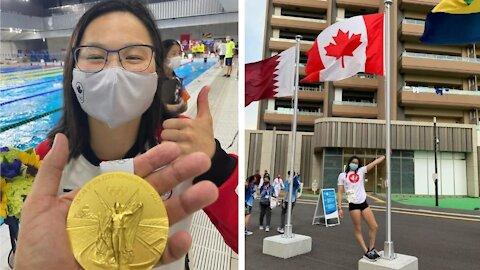 Maggie Mac Neil remporte la première médaille d'or du Canada et sa réaction est GOLD