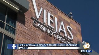 Viejas Casino & Resort celebrates grand re-opening