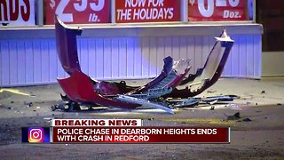 Police chase in Dearborn Heights ends with crash in Redford