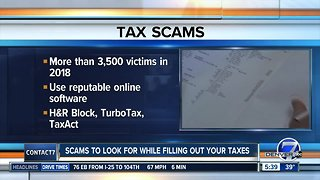 Watch out for tax scams