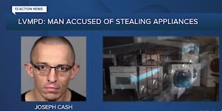 Las Vegas man arrested for stealing appliances