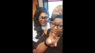 Diamond and Silk on the Women For Trump bus Tour