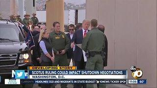 SCOTUS ruling could impact shutdown