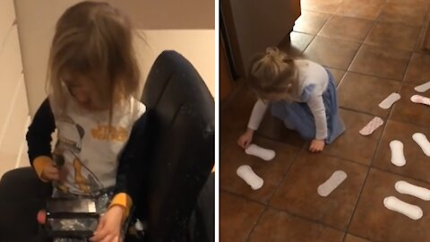 Compilation of kid making huge messes in the house