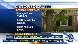 Denver metro home prices set new record