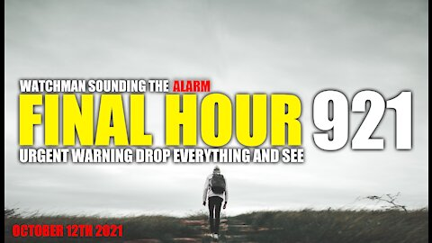 FINAL HOUR 921 - URGENT WARNING DROP EVERYTHING AND SEE - WATCHMAN SOUNDING THE ALARM