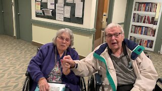 Elderly couple reunited at nursing home during Covid-19 pandemic