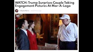 Trump Surprises Couple Taking Engagement Pictures