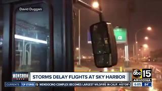 Delayed flights at Sky Harbor