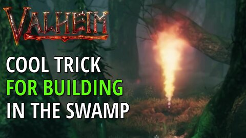 Cool Trick For Building In The Swamp - Valheim