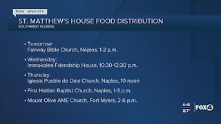 St. Matthew's House hosting food drives this week