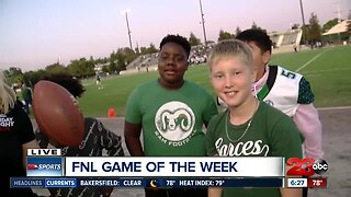 Playing football with future Kern County stars