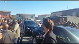 UPDATE 1: President Zuma arrives to visit family of murdered Courtney Pieters (SdM)