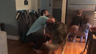 Jealous Dog Makes Sure He Also Gets Hug From Owner