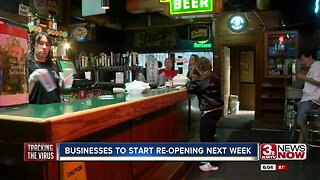 Nebraska businesses to start re-opening next week