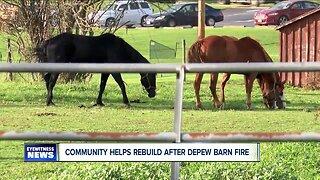 Community helps rebuild after Depew barn fire