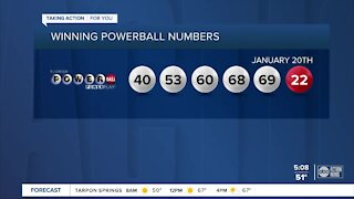 One winning ticket worth $730 million sold for January 20, 2021 Powerball drawing