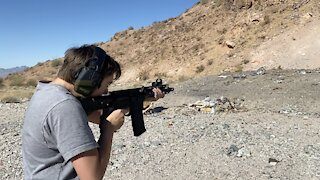 AR-15 Pistol Practice with a little slow-mo!
