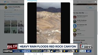 Red Rock Canyon swirling flood water