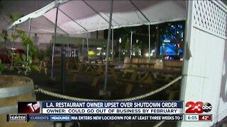 L.A. restaurant owner upset over shutdown order