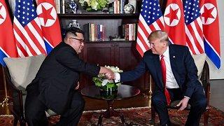 President Trump, Kim Jong-Un Meet For Historic Summit In Singapore