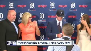 Tigers sign, introduce Casey Mize, No. 1 overall pick of 2018 MLB Draft
