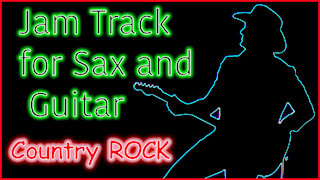 422 COUNTRY ROCK Jam Track for SAX and GUITAR