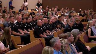 Hundreds gather at prayer vigil honoring fallen Arvada Officer Gordon Beesley