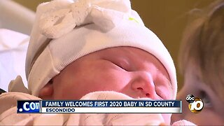 Family welcomes first 2020 baby in San Diego County