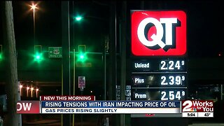 Rising tensions with Iran impacting price of oil