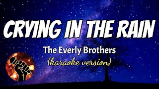 CRYING IN THE RAIN - THE EVERLY BROTHERS (karaoke version)