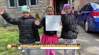 Teacher parade Elmwood Village