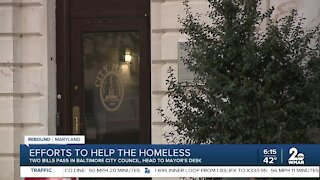 Baltimore City efforts to help the homeless