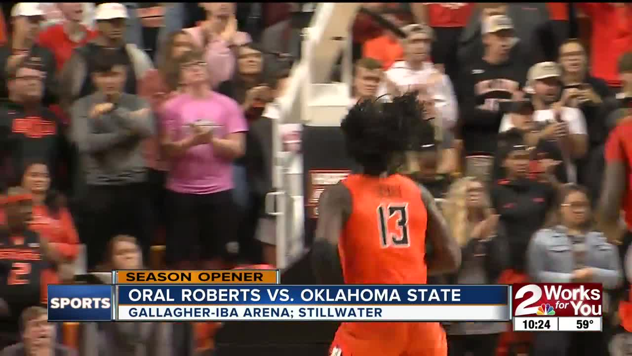 Oklahoma State Beats ORU 80-75 for 1st Win