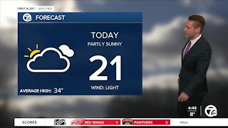 Metro Detroit Forecast: Cold and cloudy with a slight chance of snow