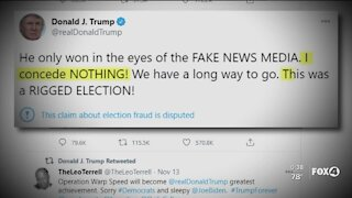 Trump refuses to concede