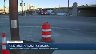 Central 70: Brighton offramp closing for months