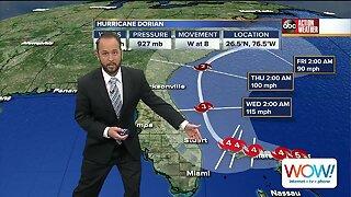Hurricane Dorian 9am update