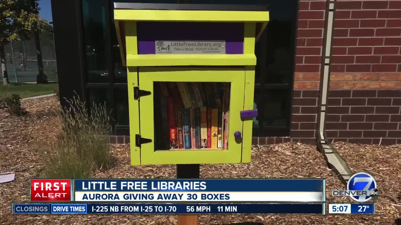 Aurora is giving away 60 little free libraries