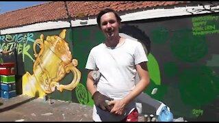 SOUTH AFRICA - Durban - Springboks Mural (Video) (xuk)