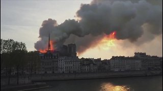 Massive fire breaks out at famed Notre Dame Cathedral