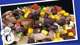 Brazilian Black Beans and Corn! An Easy, Healthy Recipe!