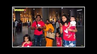 Karanvir Bohra With Wife Teejay Sidhu & Daughters Return From Canada