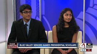 Blue Valley Seniors Named U.S. Presidential Scholars