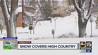 Massive snowstorm breaks records across Arizona
